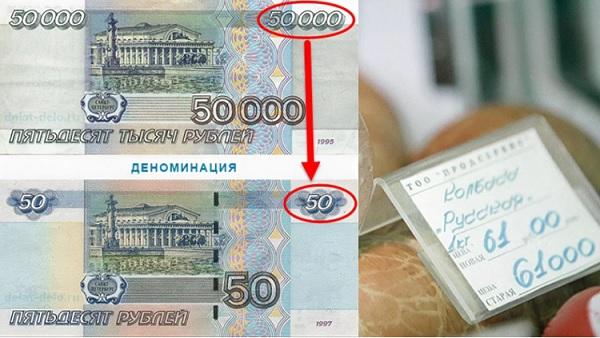 Деноминация рубля в России